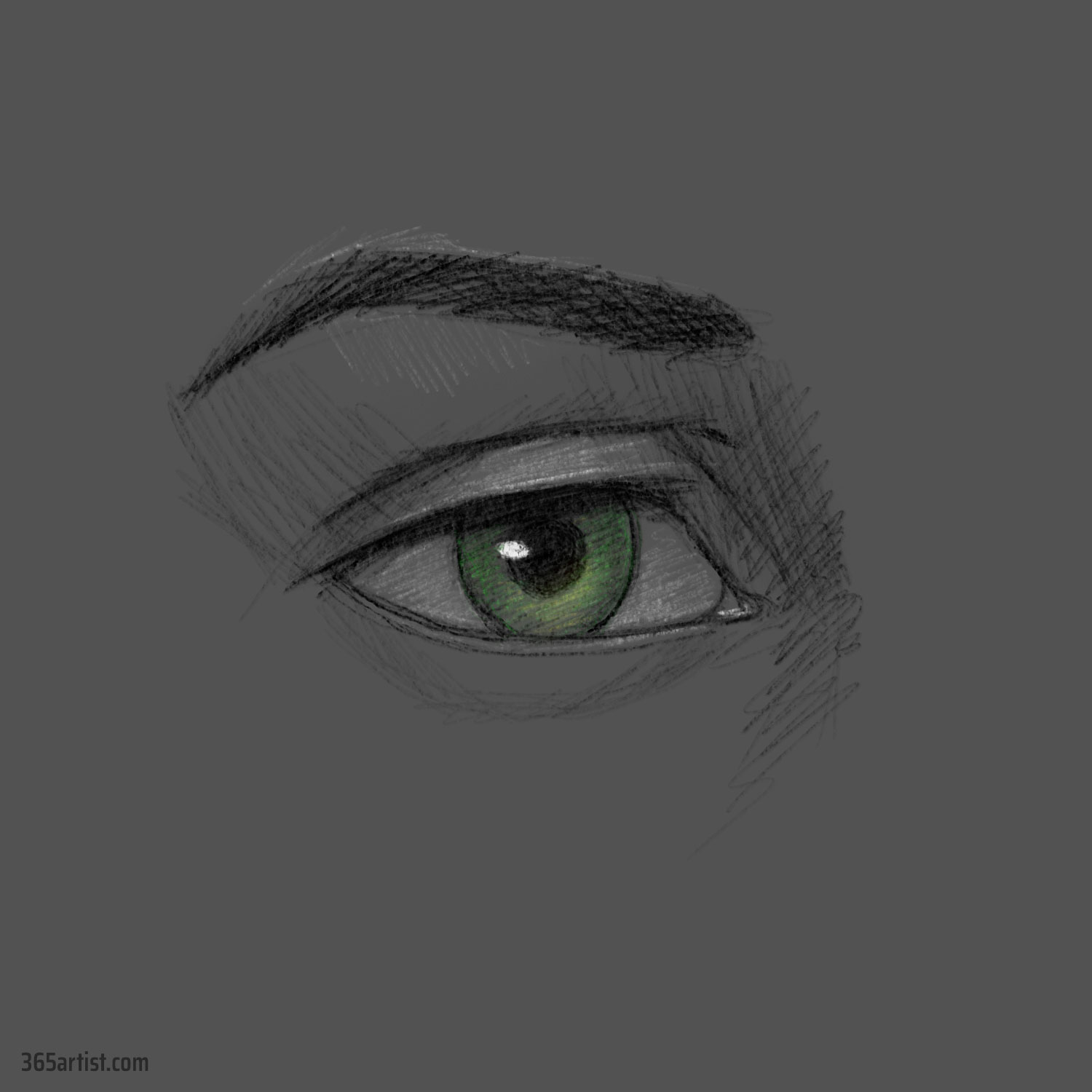 eye digital drawing practice