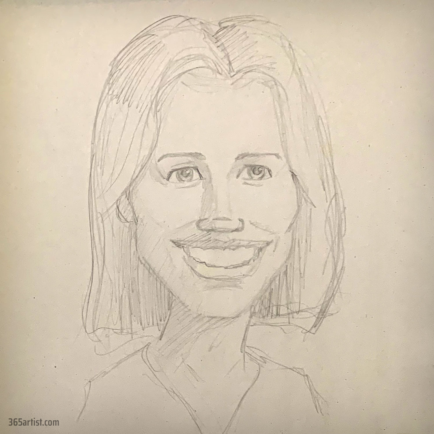 female caricature drawing