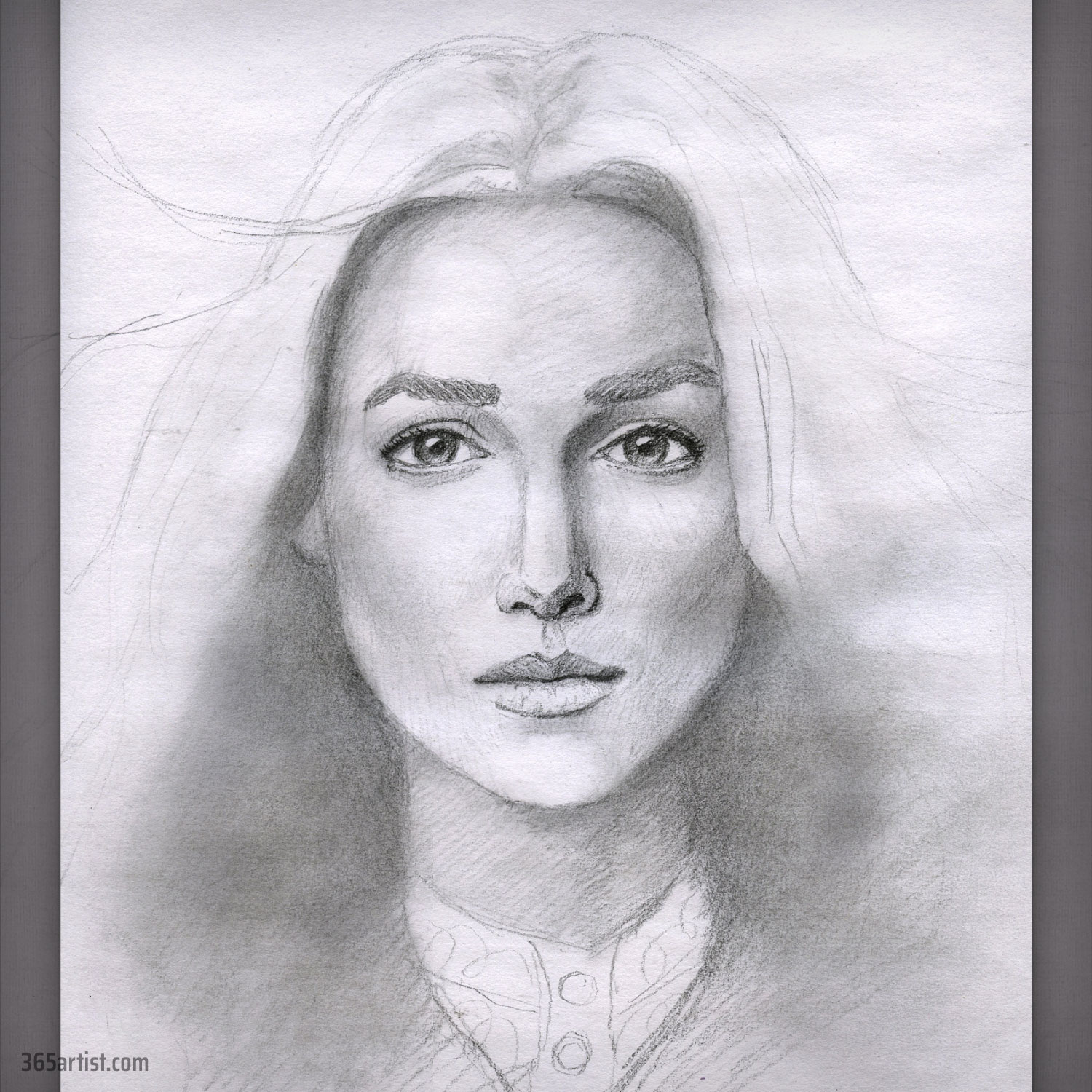 portrait drawing of the queen