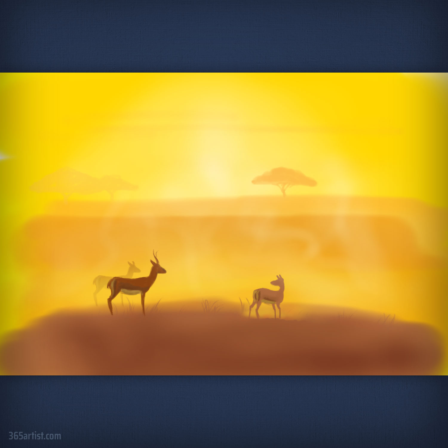 painting of African safari
