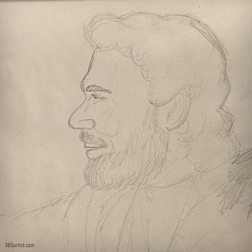 drawing of a Bible character
