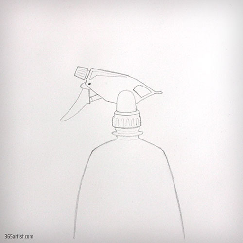 drawing of a spray bottle