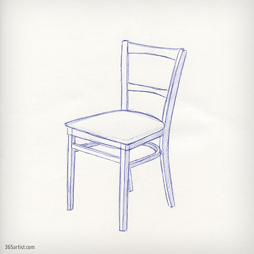 pen drawing of a chair