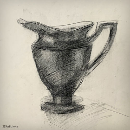 drawing of a fancy pitcher