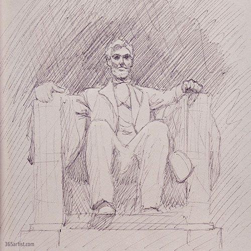 lincoln memorial drawing