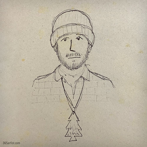 drawing of a lumberjack