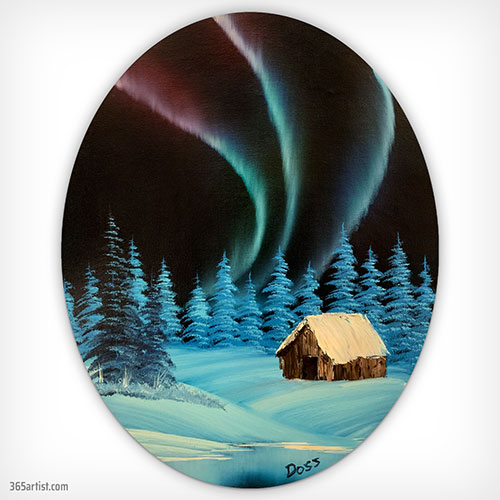 painting of the northern lights