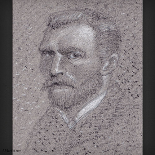 drawing of Van Gogh