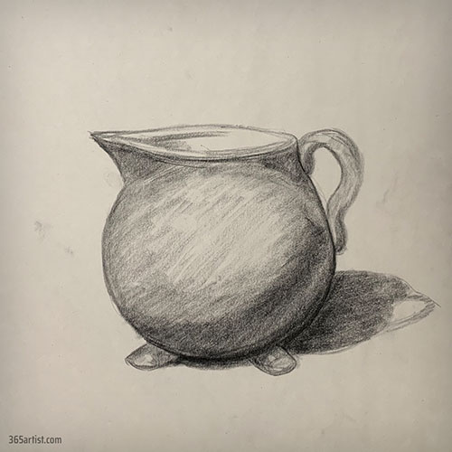 drawing of a water pitcher