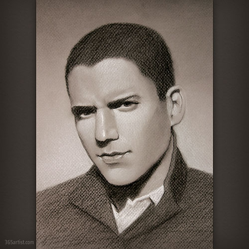 drawing of Wentworth Miller